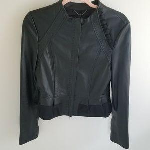 BCBG Maxazria Black Moto Leather Jacket